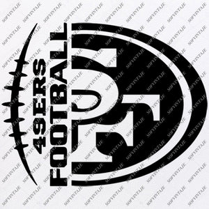 49ers Football Svg - Football Svg - San Francisco 49ers Svg - Football Clip art - Svg For Cricut - Svg For Silhouette - SVG - EPS - PDF - DXF - PNG - JPG - AI
