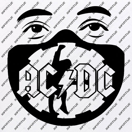 AcDc - AcDc  Svg File - AcDc  Design - Face Mask Clipart - Music Svg File - Music Png - AcDc Vector Graphics - Svg For Cricut - For Silhouette - SVG - EPS - PDF - DXF - PNG - JPG - AI