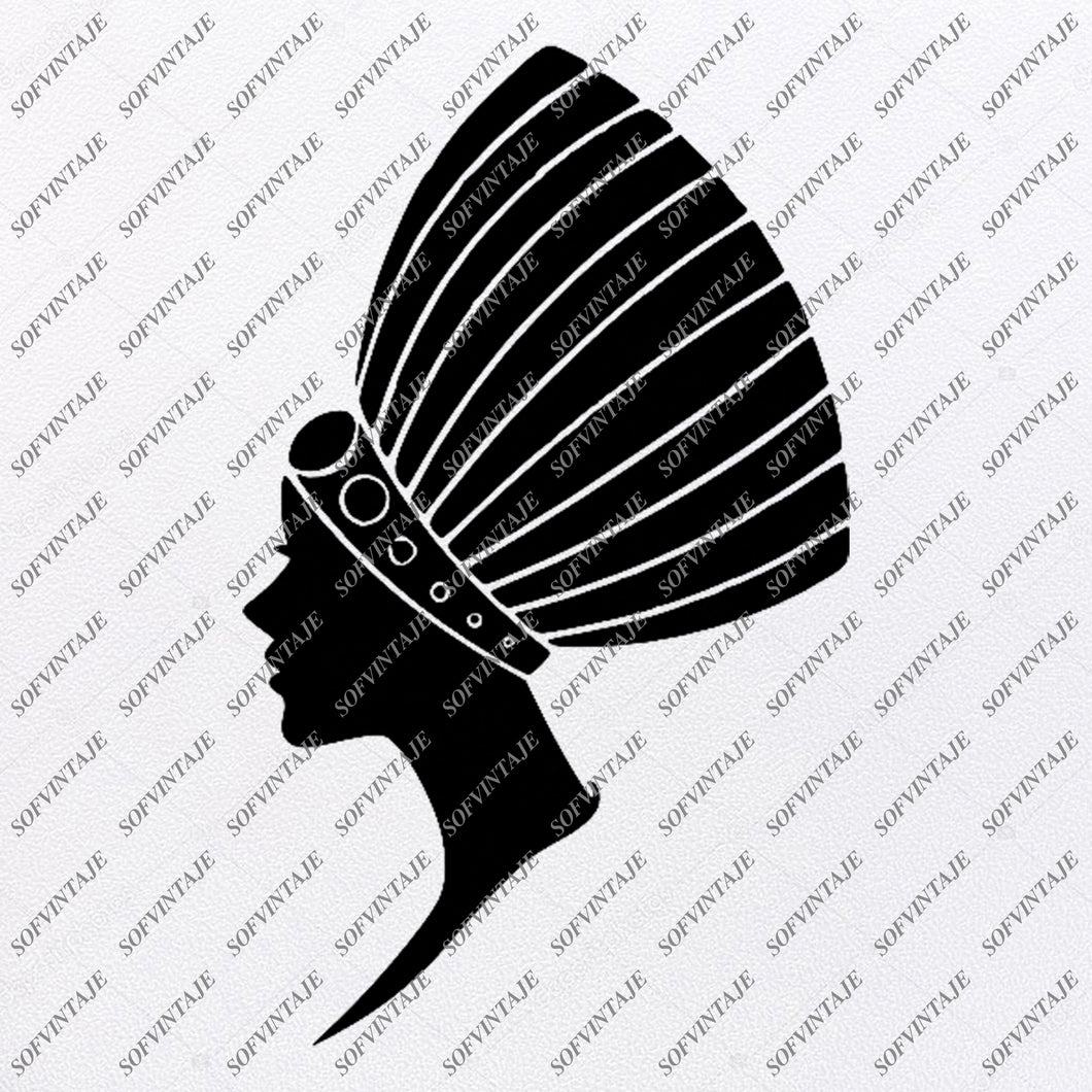 African American Girl Silhouette Svg Files - Svg Files For Cricut - For Silhouette - African Woman Clipart - African Decor - SVG-EPS-PDF-DXF-PNG-JPG-AI