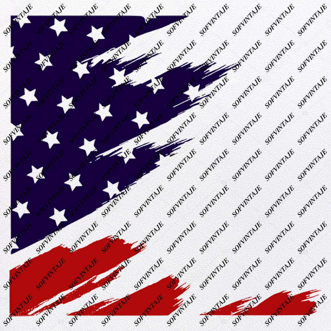 America - Flag Svg Files - USA Flag Svg Design - Original Design - Svg Files For Cricut - Svg For Silhouette - American Flags Clip art - Flags - SVG - EPS - PDF - DXF - PNG - JPG - AI