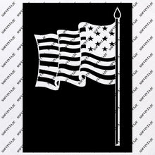 Load image into Gallery viewer, America - Flag Svg Files - USA Flag Svg Design - Original Design - Svg Files For Cricut - Svg For Silhouette - American Flags Clip art - Flags - SVG - EPS - PDF - DXF - PNG - JPG - AI