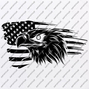 America Eagle Svg File-Country Usa Original Design-Usa Flag Clip art-Flag Country Svg Files-Clipart-Svg For Cricut-For Silhouette - SVG - EPS - PDF - DXF - PNG - JPG - AI