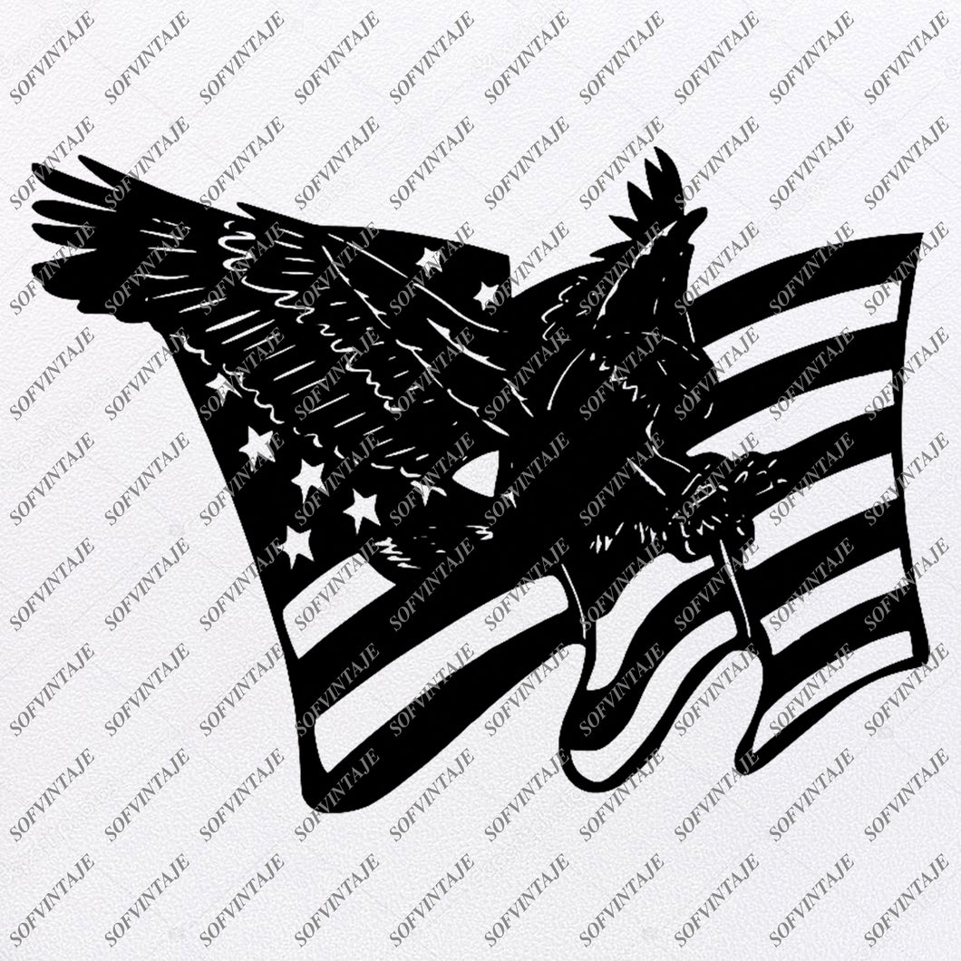 America Eagle Svg File-Country Usa Original Design-Usa Flag Clip art-Flag Country Svg Files-Clipart-Svg For Cricut-For Silhouette-SVG-EPS-PDF-DXF-PNG-JPG-AI