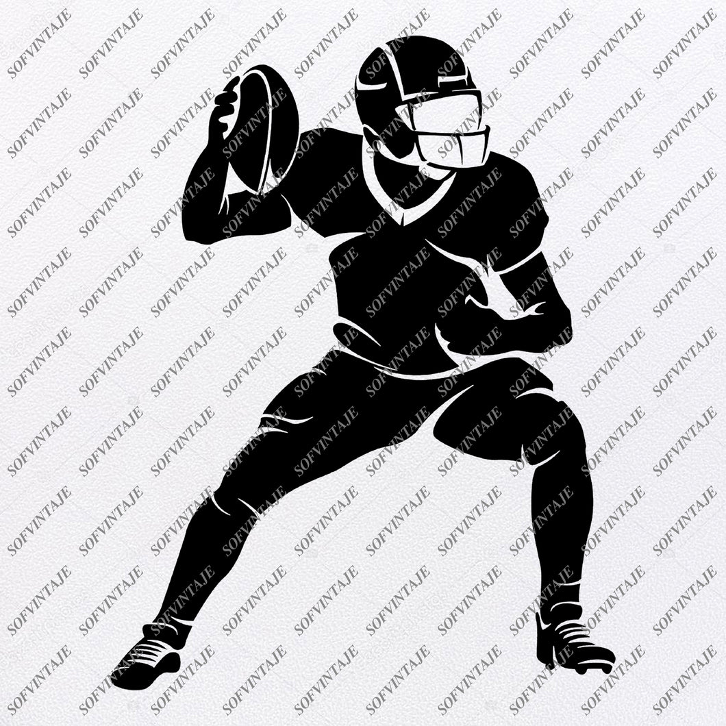 American Football Svg File - Football Player Svg - American Football Clipart - Vector Graphics - Svg For Cricut - Silhouette - SVG - EPS - PDF - DXF - PNG - JPG - AI