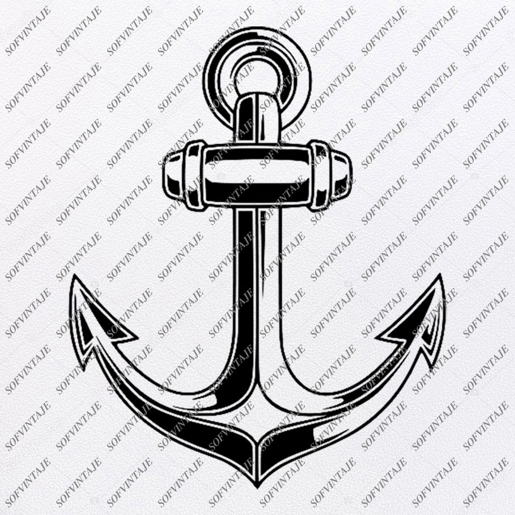 Anchor Svg File- Anchor Original Svg Design-Ship Anchor Svg-Clip art- Anchor  Vector Graphics-Svg  For Cricut-Svg For Silhouette - SVG - EPS - PDF - DXF - PNG - JPG - AI
