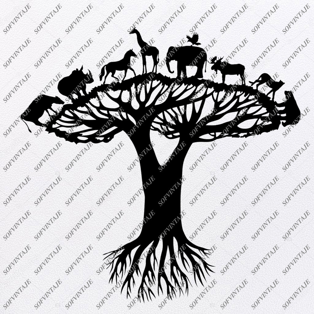 Animals Svg File - Animals of Safari Svg - Wild Animals - Clip art - Vector Graphics - Svg For Cricut - Svg For Silhouette - SVG - EPS - PDF - DXF - PNG - JPG - AI