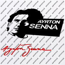 Load image into Gallery viewer, Ayrton Senna Svg File - Ayrton Senna Svg Design-Clipart-Formula-1 Svg File-Sport Png-Vector Graphics-Svg For Cricut-For Silhouette - SVG - EPS - PDF - DXF - PNG - JPG - AI