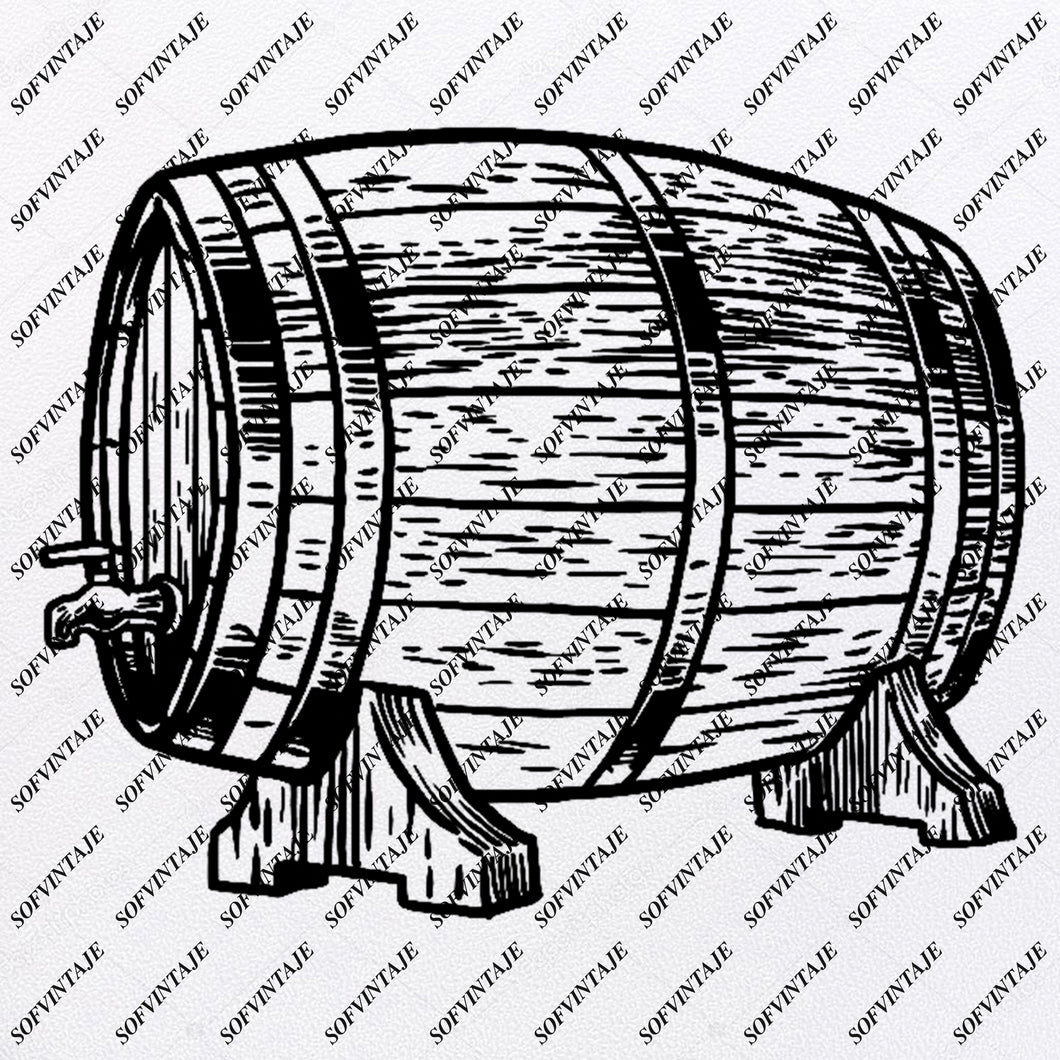 Barrel - Wooden barrel  Svg File- barrel for wine Original Svg Design - Drink Svg - Wooden barrel Clip art - Wooden barrel   Vector Graphics-Svg  For Cricut-Svg For Silhouette - SVG - EPS - PDF - DXF - PNG - JPG - AI