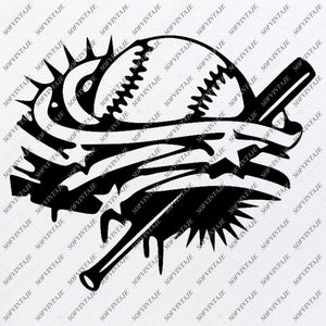 Baseball Svg File -Funny Ball Svg-Basketball Svg-Baseball Clip art- Funny Baseball Svg-Svg For Cricut - Svg For Silhouette - SVG - EPS - PDF - DXF - PNG - JPG - AI