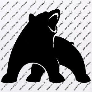 Bear Svg File - Bear  Svg - Bear Clip art - Animals Svg - Wild Animal Png - Vector Graphics - Svg For Cricut - For Silhouette - SVG - EPS - PDF - DXF - PNG - JPG - AI