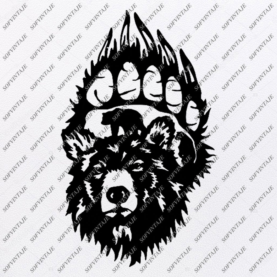 Bear Svg File - Animals Svg - Wild Animals Svg - Bears Clip art - Vector Graphics - Svg For Cricut - Svg For Silhouette - SVG - EPS - PDF - DXF - PNG - JPG - AI