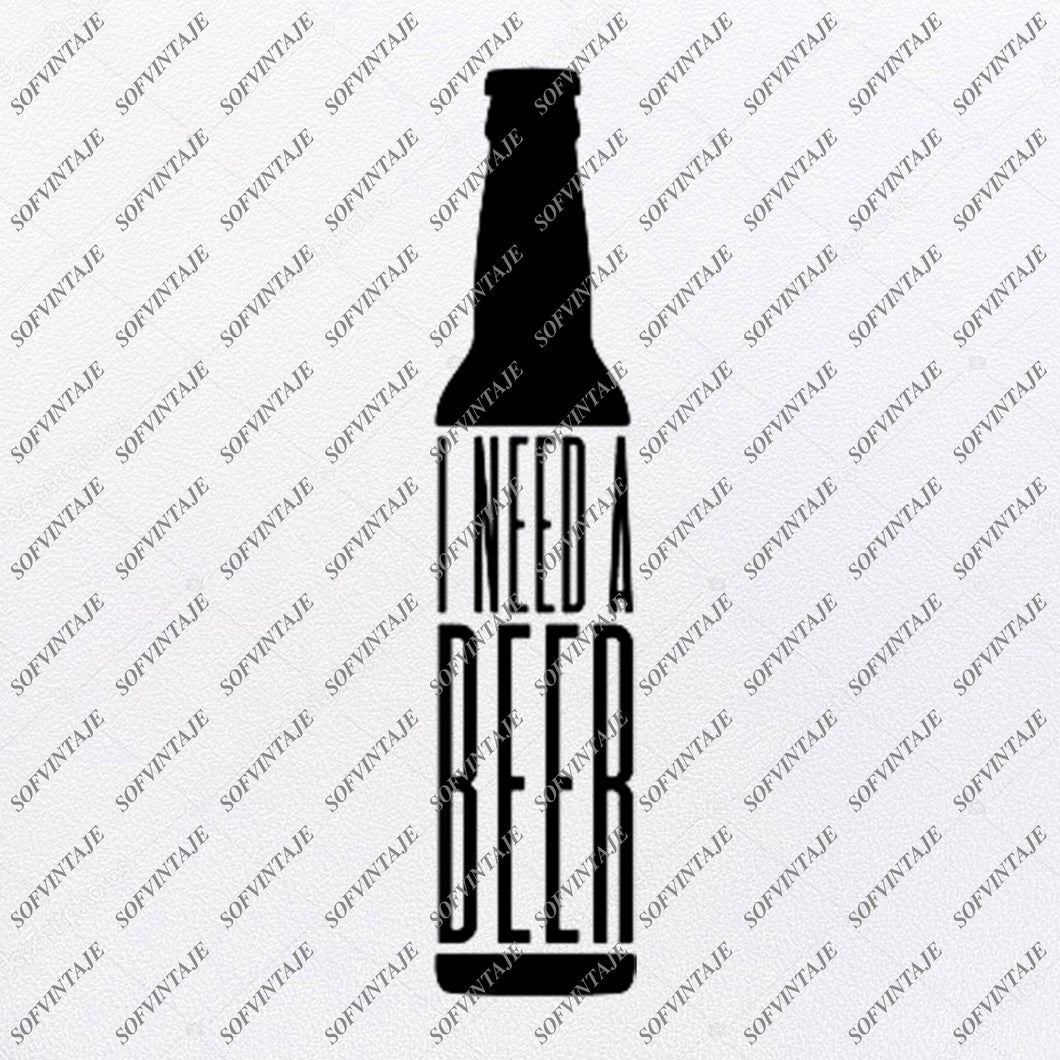 Beer Svg File- Beer  Original Svg Design-Drink Svg-Clip art- Beer  Vector Graphics-Svg  For Cricut-Svg For Silhouette - SVG - EPS - PDF - DXF - PNG - JPG - AI