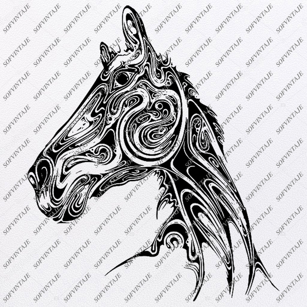 Black Horse Svg File-Wild Horse Original Svg Design-Animals Svg-Clip art-Horse Vector Graphics-Svg For Cricut-Svg For Silhouette - SVG - EPS - PDF - DXF - PNG - JPG - AI