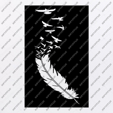 Load image into Gallery viewer, Black and White Feather Svg File-Feather Original Svg Design-Feather Svg-Clip art-Vector Graphics-Svg For Cricut-Svg For Silhouette-SVG - EPS - PDF - DXF - PNG - JPG - AI