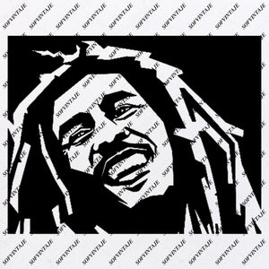 Bob Marley Svg File - Bob marley Svg Design - Clipart - Music Svg File - Singer reggae - Vector Graphics - Svg For Cricut - For Silhouette - SVG - EPS - PDF - DXF - PNG - JPG - AI