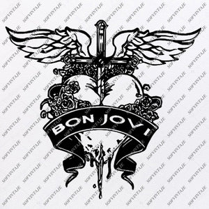 Bon Jovi  Svg File-Jon Bon Jovi Svg Design-Clipart-Singer Rock Svg -Jon Bon Jovi Png-Vector Graphics-Svg For Cricut-For Silhouette -SVG - EPS - PDF - DXF - PNG - JPG - AI