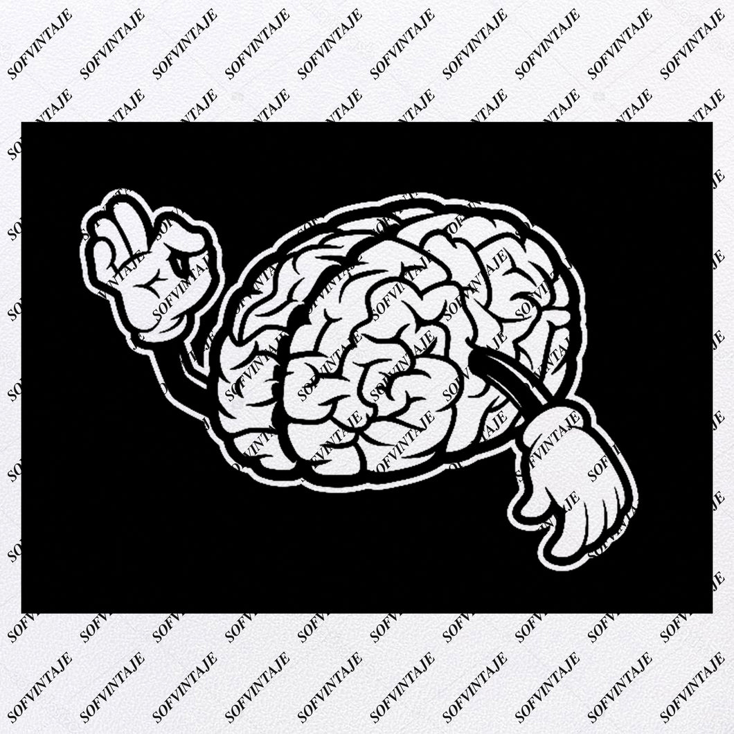 Brain - Human Brain Svg File - Brain With Hands Original Design - Brain Clip art - Brain With Hands Svg Files - Brain Clipart - Svg For Cricut -For Silhouette - SVG - EPS - PDF - DXF - PNG - JPG - AI