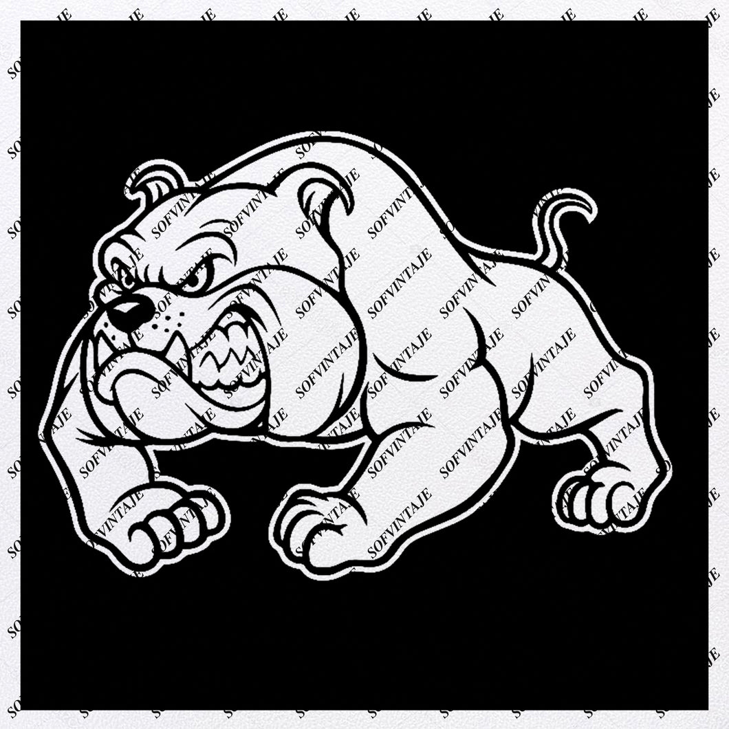 Bulldog Svg File - Bulldogs Football Svg - Football Team Mascot Svg - Bulldog Clip art - Svg For Cricut - Svg For Silhouette - SVG - EPS - PDF - DXF - PNG - JPG - AI