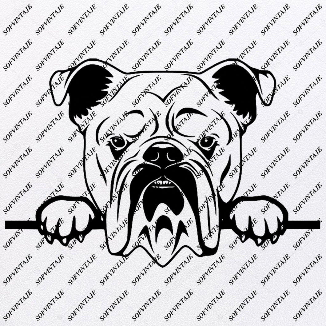 Bulldog Svg File-English Bulldog Svg Original Design-English Bulldog Clip art-Animals Svg File-Vector Graphics-Svg For Cricut-For Silhouette - SVG - EPS - PDF - DXF - PNG - JPG - AI