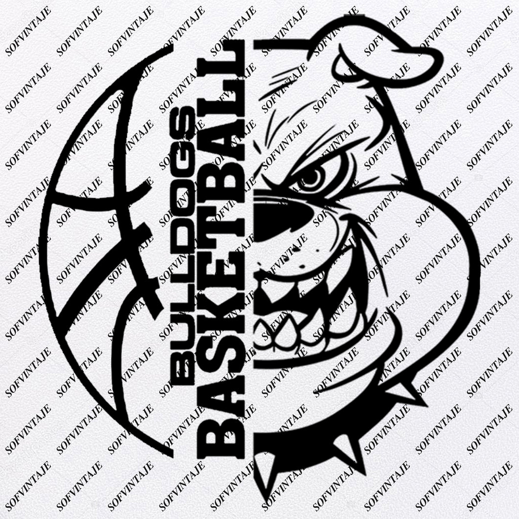 Bulldogs Basketball Svg Files - Georgia Bulldogs Svg - Football Svg - Bulldog Mascot - Clipart - For Cricut - For Silhouette - SVG - EPS - PDF -DXF - PNG - JPG - AI