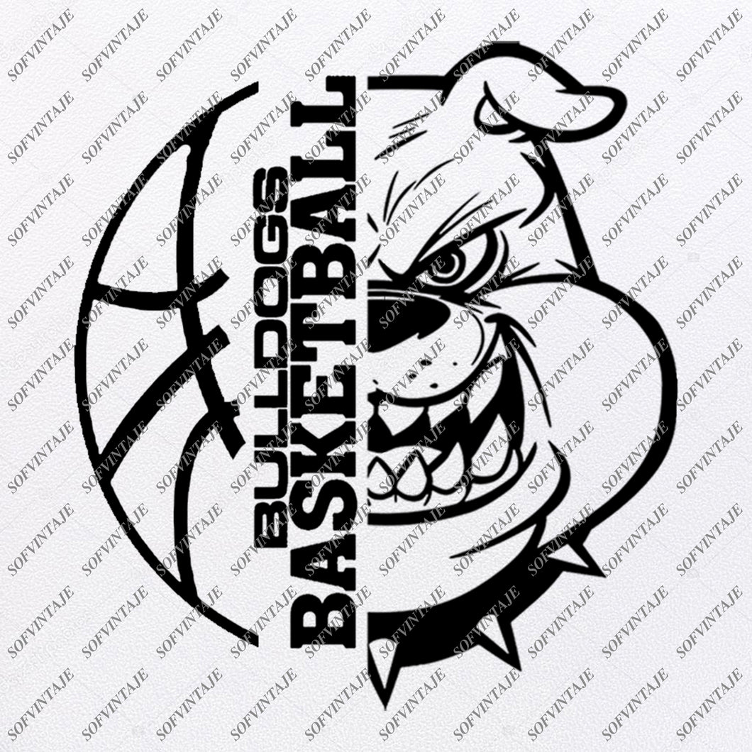 Bulldogs Basketball Svg Files - Georgia Bulldogs Svg - Football Svg - Bulldog Mascot - Clipart - For Cricut - For Silhouette - SVG - EPS - PDF - DXF - PNG - JPG - AI