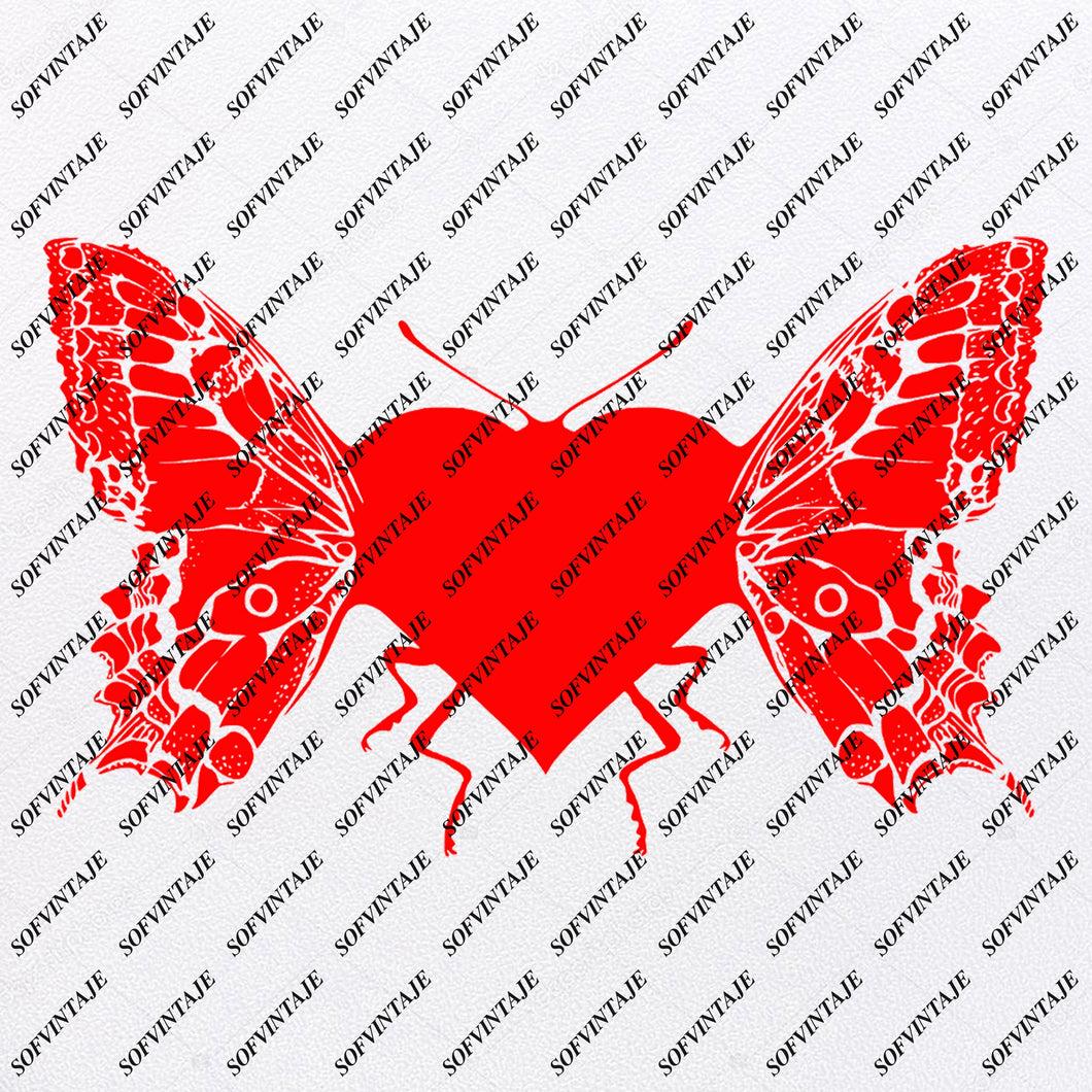 Butterfly - Butterfly Heart Svg File - Tattoo Svg Design - Clipart - butterflies Svg Files - Butterfly Png - Vector Graphics-Svg For Cricut - For Silhouette - SVG - EPS - PDF - DXF - PNG - JPG - AI