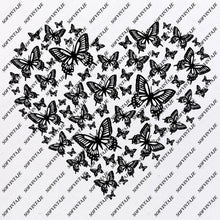 Load image into Gallery viewer, Butterfly Svg File-Tattoo Svg Design-Clipart-butterflies Svg Files-Butterfly Png-Vector Graphics-Svg For Cricut-For Silhouette - SVG - EPS - PDF - DXF - PNG - JPG - AI