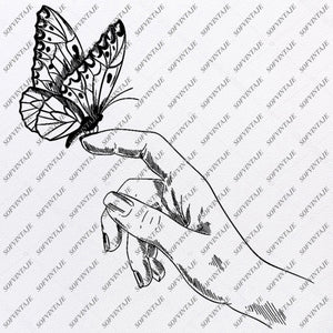 Butterfly Svg File-Tattoo Svg Design-Clipart-butterflies Svg Files-Butterfly Png-Vector Graphics-Svg For Cricut-For Silhouette - SVG - EPS - PDF - DXF - PNG - JPG - AI