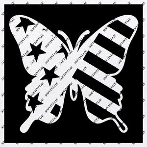 Butterfly Svg File-Tattoo Svg Design-Clipart-butterflies USA Flag Svg Files-Butterfly Png-Vector Graphics-Svg For Cricut-For Silhouette - SVG - EPS - PDF - DXF - PNG - JPG - AI