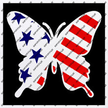 Load image into Gallery viewer, Butterfly Svg File-Tattoo Svg Design-Clipart-butterflies USA Flag Svg Files-Butterfly Png-Vector Graphics-Svg For Cricut-For Silhouette - SVG - EPS - PDF - DXF - PNG - JPG - AI