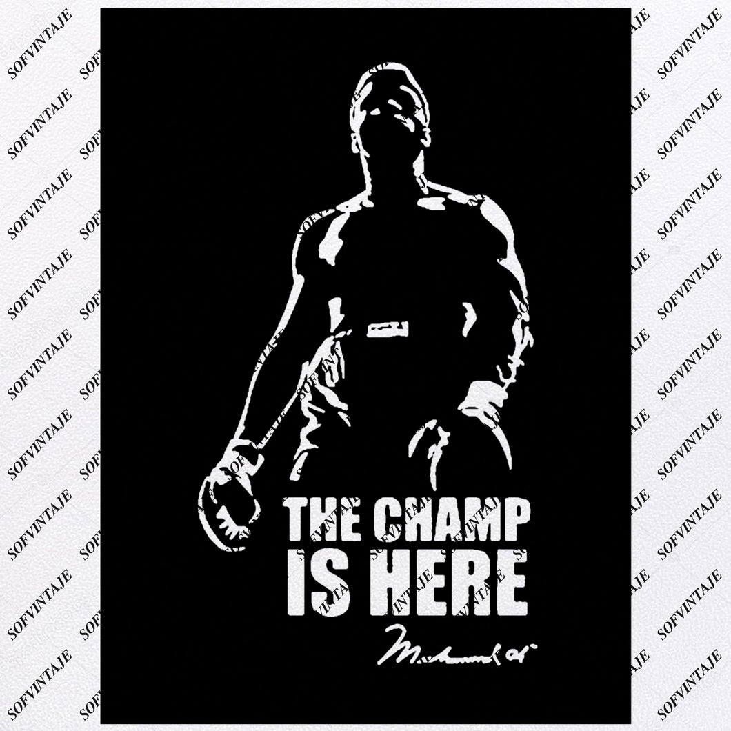 Cassius Marcellus Clay Jr - Cassius Clay Svg File - King Of Boxing - Boxing Svg - World Champion - Boxing Clip art-Top Players Svg-Svg For Cricut - Svg For Silhouette - SVG - EPS - PDF - DXF - PNG - JPG - AI