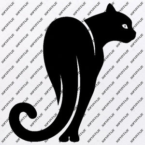 Cat - Cat Svg File - Cat Svg Design - Clipart - Animals Svg File - Animals Png - Cat Vector Graphics - Svg For Cricut - For Silhouette - SVG - EPS - PDF - DXF - PNG - JPG - AI