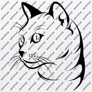 Cat Svg File-Cat Svg Design - Clipart - Animals Svg File - Animals Png - Cat Vector Graphics - Svg For Cricut - For Silhouette- SVG - EPS - PDF - DXF - PNG - JPG - AI