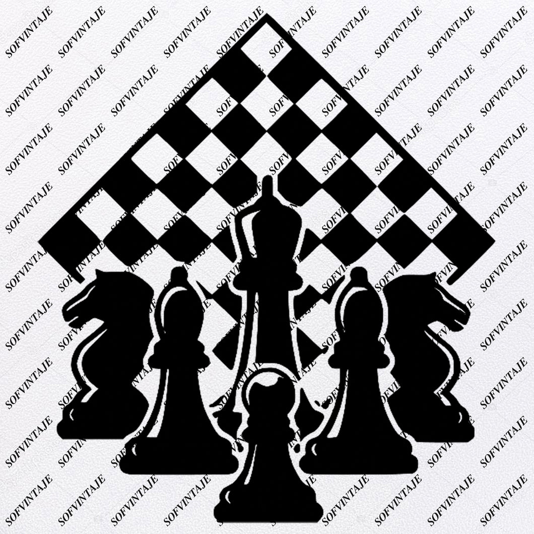 Chess - Chess Svg  File - Svg For Cricut - Chess Clip art - Personalized Svg - Svg For Silhouette - SVG - EPS - PDF - DXF - PNG - JPG - AI
