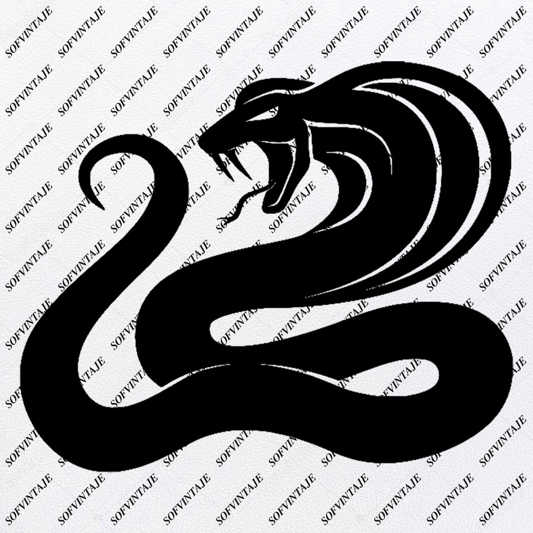 Cobra Snake Svg File-Snake-Original Svg Design-Animals Svg-Clip art-Cobra Vector Graphics-Svg For Cricut-Svg For Silhouette - SVG - EPS - PDF - DXF - PNG - JPG - AI