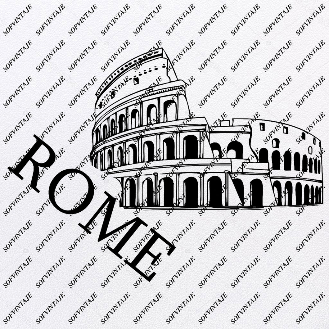 Colosseum - Italy  Rome Colosseum Svg File - Colosseum Svg Design - Rome Colosseum Original Design - Svg Files For Cricut - Svg For Silhouette - Colosseum Clip art - Rome - SVG - EPS - PDF - DXF - PNG - JPG - AI