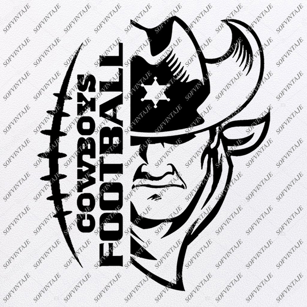 Cowboys Football Svg File - Football Svg - Cowboy Svg - Football Clip art - Vector File - Svg For Cricut - Svg For Silhouette - SVG - EPS - PDF - DXF - PNG - JPG - AI
