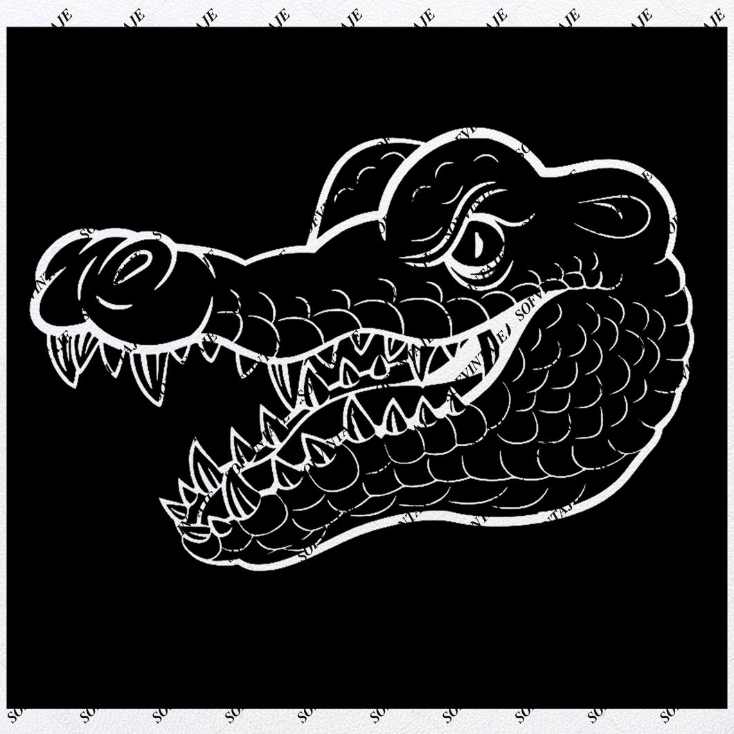Crocodile Svg File - Alligator Original Design -Crocodile Clip art - Animals Svg Files - Wild Animals Clipart - Svg For Cricut -For Silhouette - SVG - EPS - PDF - DXF - PNG - JPG - AI