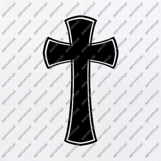 Cross Svg File - Cross Tattoo Svg Design-Clipart-Cross Svg Files-Cross Png-Vector Graphics -Svg For Cricut-For Silhouette - SVG - EPS - PDF - DXF - PNG - JPG - AI