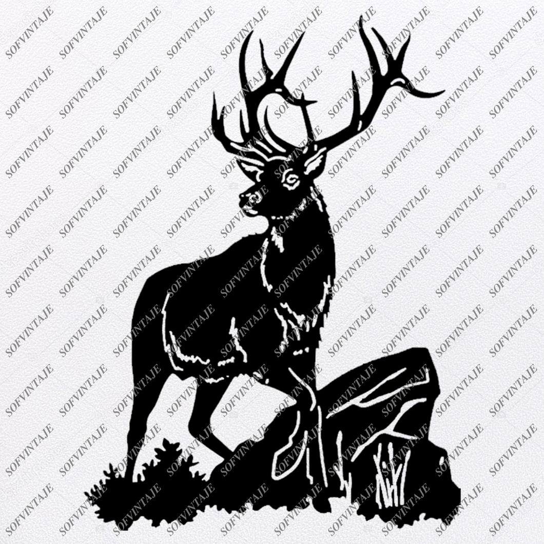 Deer Svg - Deer Svg Design - Deer Clipart - Animals Svg File - Wild Animals Svg - Vector Graphic - For Cricut - For Silhouette - SVG - EPS - PDF - DXF - PNG - JPG - AI