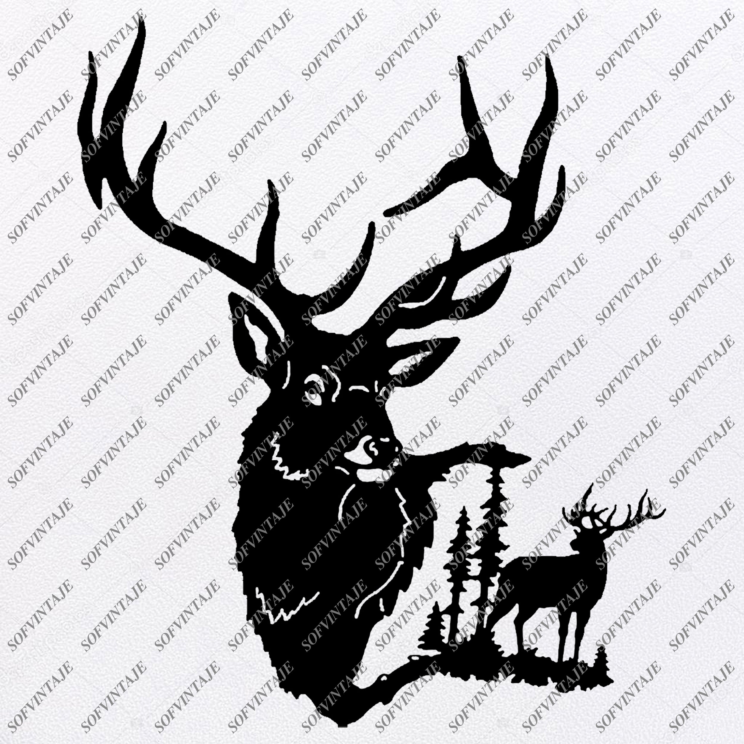 Download Deer Silhouette Svg Files For Silhouette Files For Cricut ...