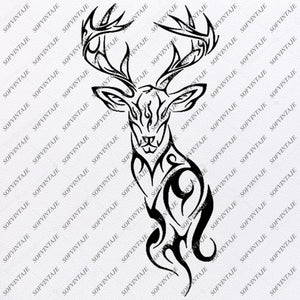 Deers Svg File - Deer Svg - Animals Svg - Animals Clip art - Deer Vector Graphics - Svg For Cricut - Svg For Silhouette - SVG - EPS - PDF - DXF - JPG - PNG - AI