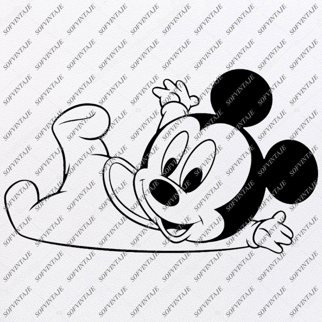 Disney Svg File - Mickey Mause Svg - Baby Mickey  Mause - Mickey Mouse Disney Clip art -Svg For Cricut -For Silhouette - SVG - EPS - PDF - DXF - PNG - JPG - AI