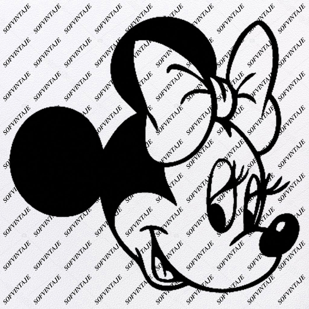 Disney Svg File -  Minnie Mause Svg -  Minnie Mause - Minnie Mouse Disney Clip art -Svg For Cricut -For Silhouette - SVG - EPS - PDF - DXF - PNG - JPG - AI