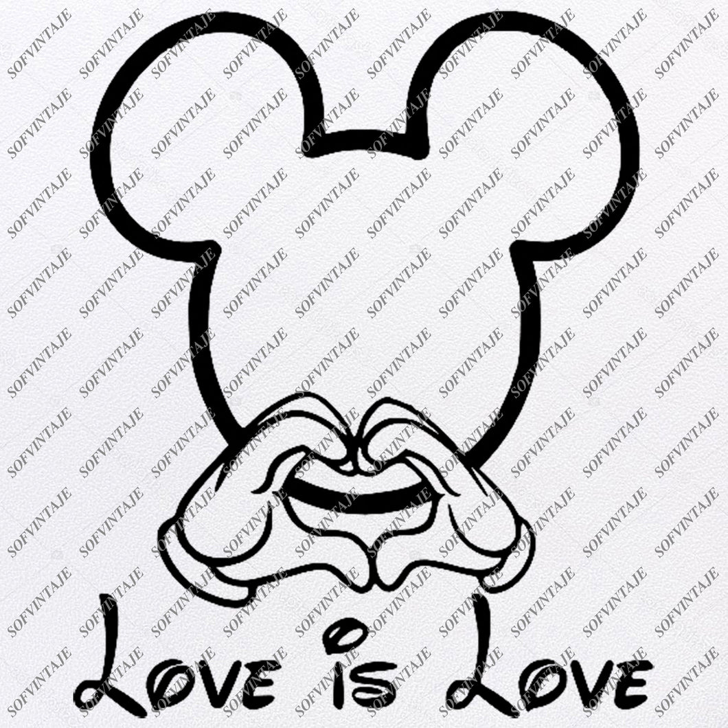 Download Disney Svg File - Mickey Mause Love Svg - Mickey Love is ...