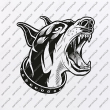 Load image into Gallery viewer, Dobermann Svg File-Tattoo Svg Original Design-Dobermann Clip art-Animals Svg File-Vector Graphics-Svg For Cricut-For Silhouette -SVG -  PDF - DXF - PNG - JPG - AI  AI