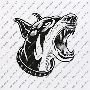 Dobermann Svg File-Tattoo Svg Original Design-Dobermann Clip art-Animals Svg File-Vector Graphics-Svg For Cricut-For Silhouette -SVG -  PDF - DXF - PNG - JPG - AI  AI