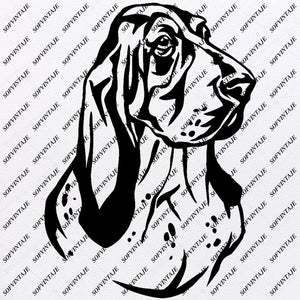 Dog - Basset Hound Svg File-dog  Original Design - Basset Hound - Clip art - Animals Svg File - Basset Hound- Vector Graphics - Svg For Cricut - For Silhouette - SVG - EPS - PDF - DXF - PNG - JPG - AI