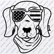 Load image into Gallery viewer, Dog - Dog Svg File-dog with glasses Svg - dog with glasses Original Design-Dog Clip art-Animals Svg File-Dog Vector Graphics-Svg For Cricut-For Silhouette - SVG - EPS - PDF - DXF - PNG - JPG - AI
