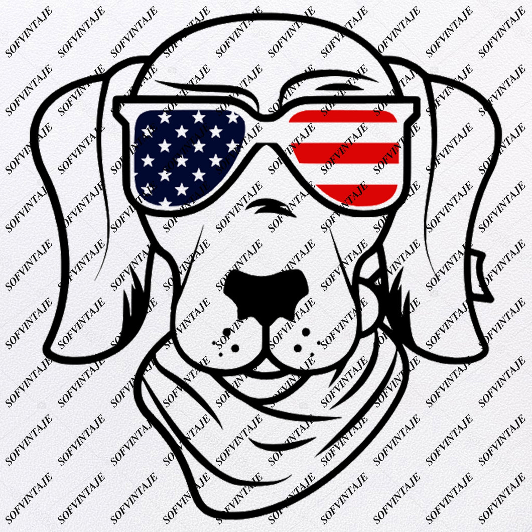 Dog - Dog Svg File-dog with glasses Svg - dog with glasses Original Design-Dog Clip art-Animals Svg File-Dog Vector Graphics-Svg For Cricut-For Silhouette - SVG - EPS - PDF - DXF - PNG - JPG - AI